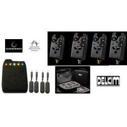 Coffret 4 detecteurs delkim ev+ et centrale ATTXv2