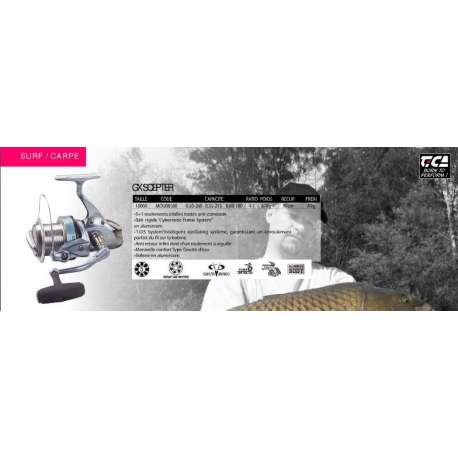 moulinet carpe surf Tica Scepter GX 10000