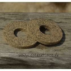 Cork disc rubber ref 33 - 32mm x 3mm - 8mm center hole