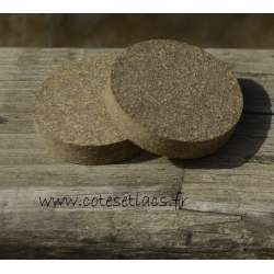 Cork disc rubber mod 33 no hole 32mm x 6.4mm