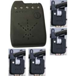 pack 4detecteur Atts blanc + centrale ATTxv2 blanche + roller 4 magnet blanc