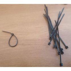 Serre cable mini noir 71mm x 1.6mm (mise en place anneaux)